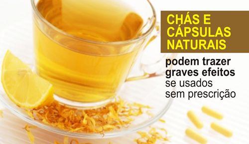 CHÁS E CÁPSULAS NATURAIS