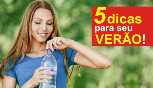 5 DICAS PARA SEU VERÃO