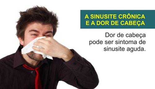 A SINUSITE CRÔNICA E A DOR DE CABEÇA