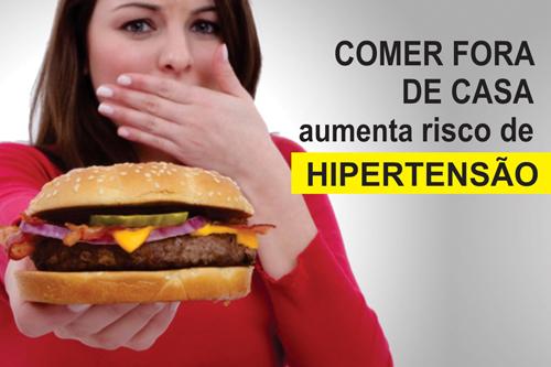 COMER FORA DE CASA AUMENTA RISCO DE HIPERTENSÃO