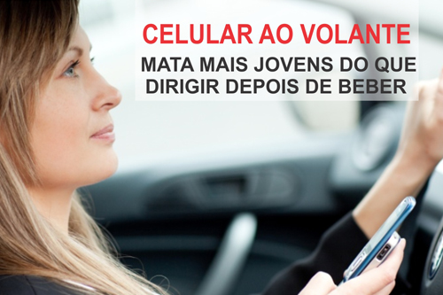 USAR O CELULAR AO VOLANTE MATA MAIS JOVENS